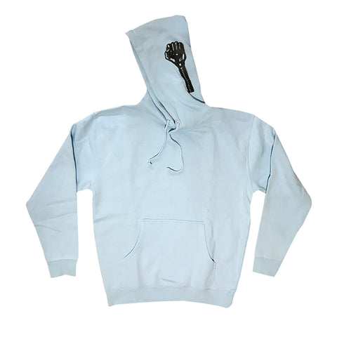 hardies side print hood (baby blue)
