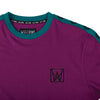 welcome chalice taped knit tee (purple/teal/black)