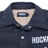 hockey down snap shirt jacket (black)