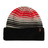 deathwish gang logo striped beanie (black)