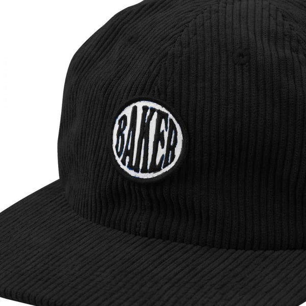 baker nautical cord snapback cap (black)
