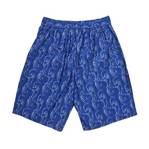 polar art swim shorts (blue)