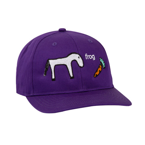 frog horse 5 panel cap (purple)