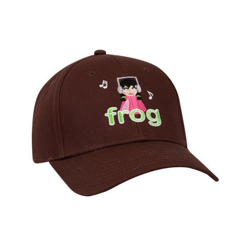 frog i'm not listening 6 panel cap (brown)
