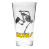 powell peralta skateboard skeleton pint glass
