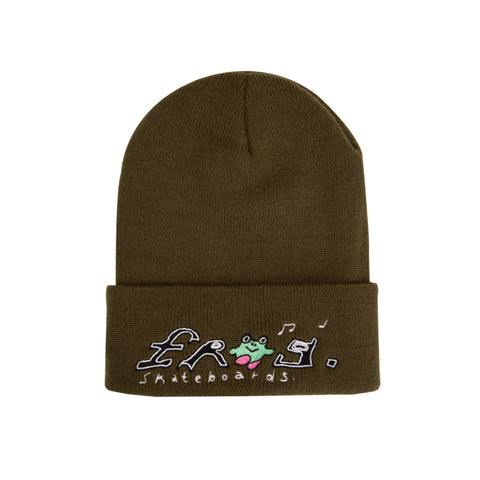frog happy frog beanie (olive)