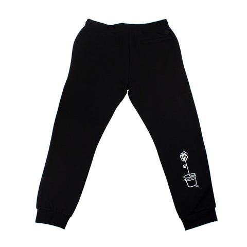 trh-bar x lebicar flower sweat pants (black/white)
