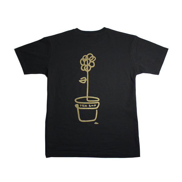 trh-bar x lebicar flower tee (black/gold)