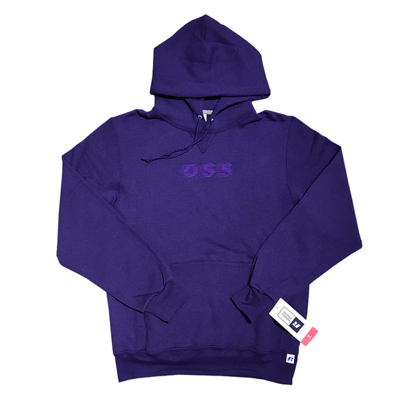 oss embroidered speedway hood (purple)