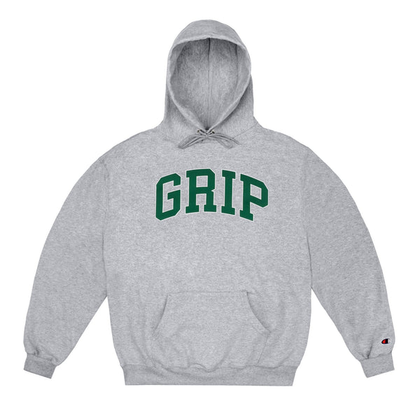classic grip hood w 90s puffer print (heather)