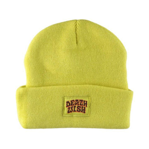 deathwish great death beanie (yellow)