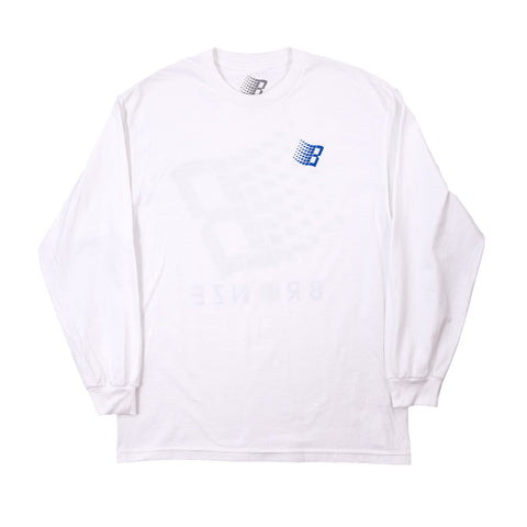 dime classic logo long sleeve (stone blue)