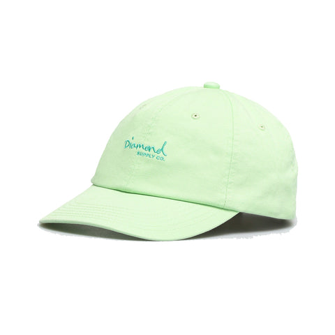 diamond og script sports cap (teal)