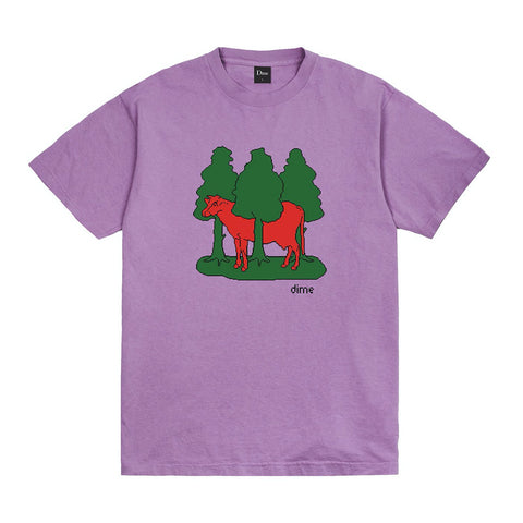 dime forest cow tee (lavender)