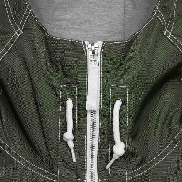 dime contrast stitch jacket (green)
