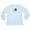 wknd gaudy salon vase long sleeve tee (light blue)