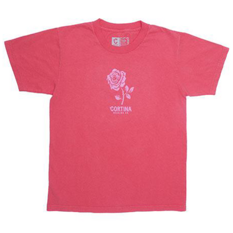 cortina rose tee (red)