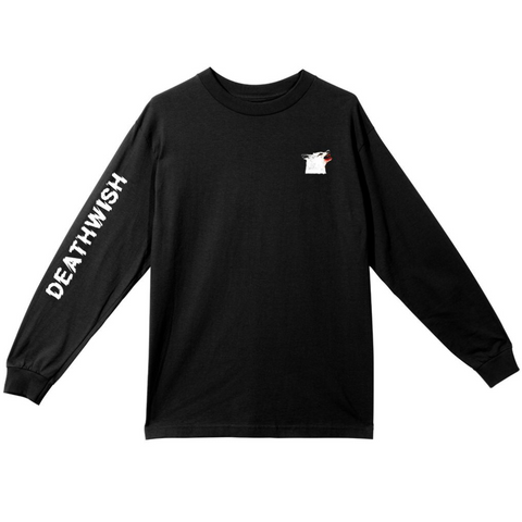 deathwish killer kill long sleeve tee (black)