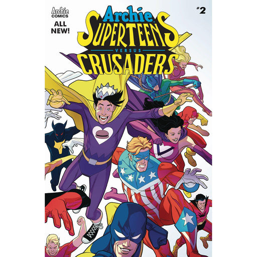 Archies Superteens Vs Crusaders #2 Cvr A Williams Connecting-Georgetown Comics