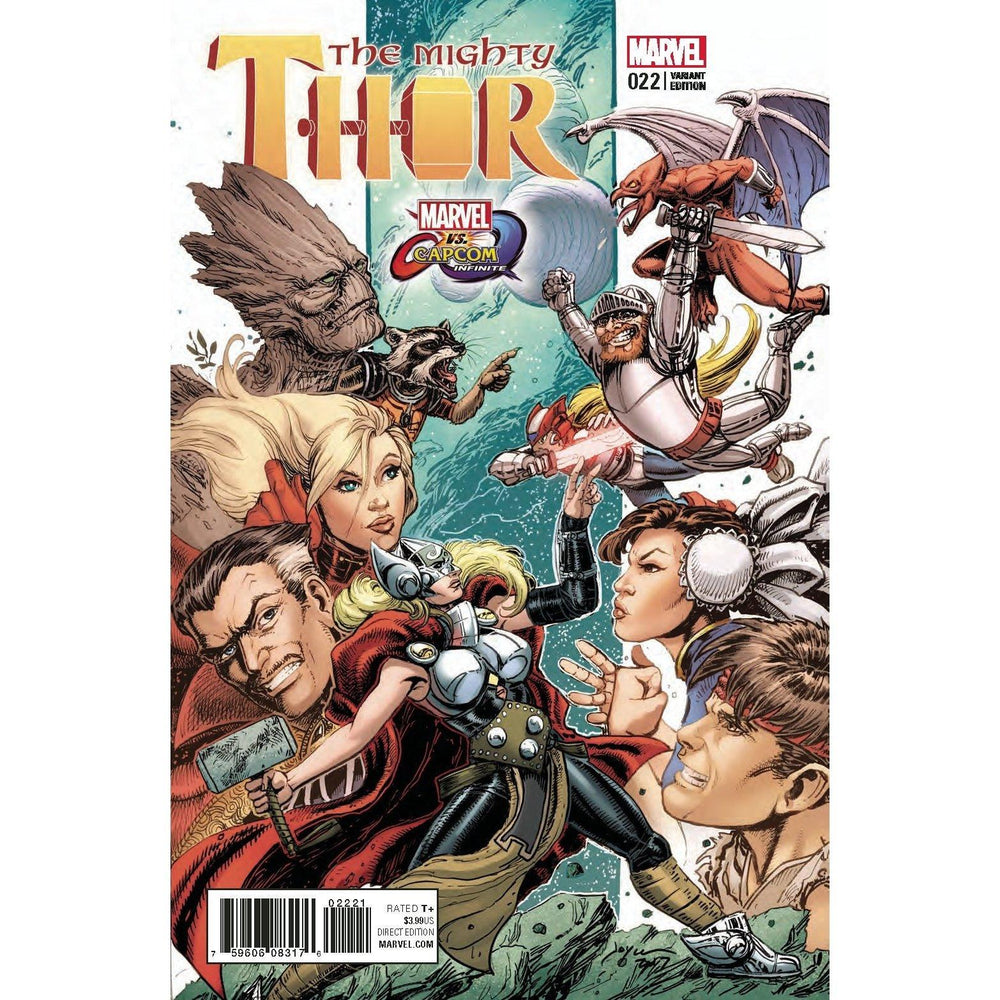 Mighty Thor #22 Chin Marvel vs Capcom Var-Georgetown Comics