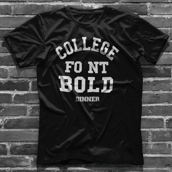 COLLEGE FONT BOLD
