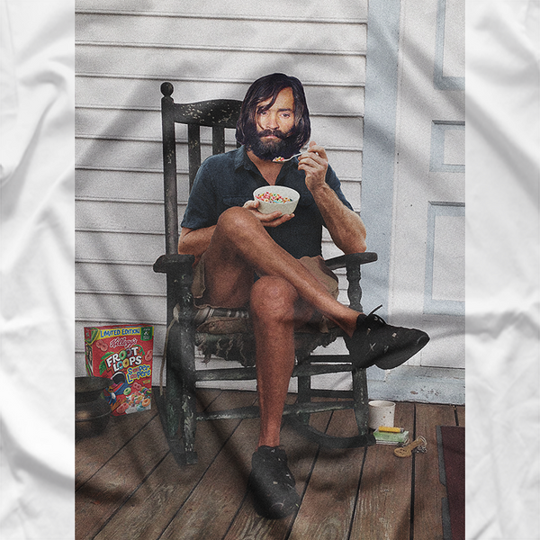 CHARLES MANSON EATING FRUIT LOOPS ON YOUR FRONT PORCH