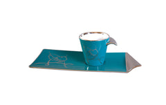 COFFEE MUG & PLATE - PLATINUM