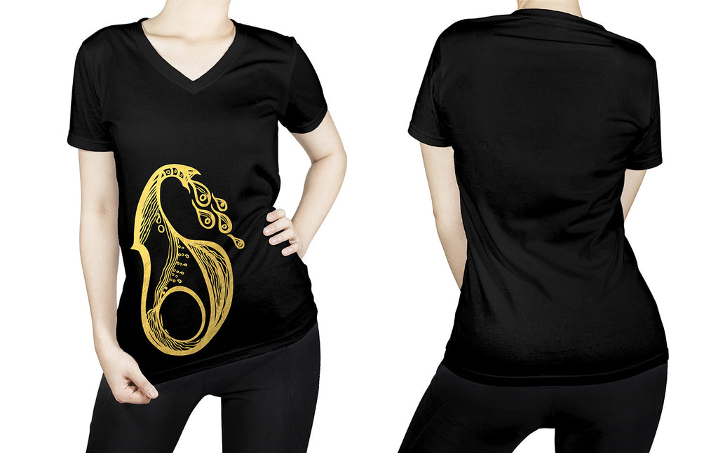 Aquarius -  V neck t-shirt for her