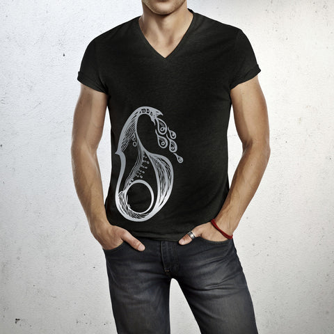 Aquarius -  V neck t-shirt for him