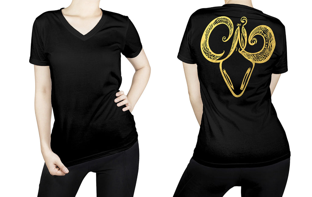 Aries -  V neck t-shirt for her