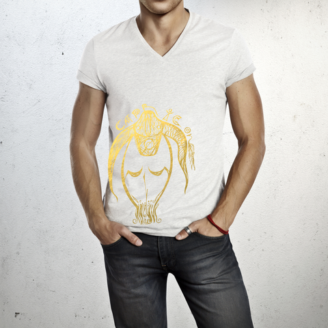 Capricorn - V neck t-shirt for him