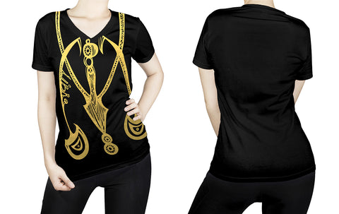 Libra -  V neck t-shirt for her