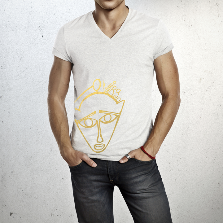 Virgo - V neck t-shirt for him
