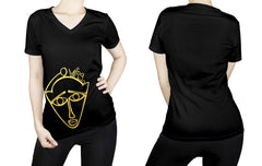 Virgo -  V neck t-shirt for her