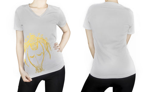 Capricorn -  V neck t-shirt for her