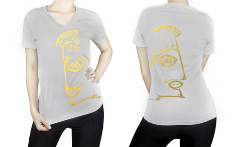 Gemini -  V neck t-shirt for her