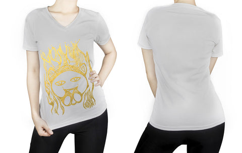 Leo -  V neck t-shirt for her