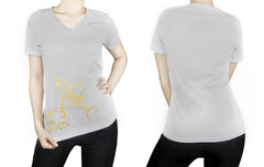 Pisces -  V neck t-shirt for her