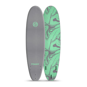 8' Gunner Gray & Steel Green Marbled (FCS1 Fin Boxes) - PREORDER