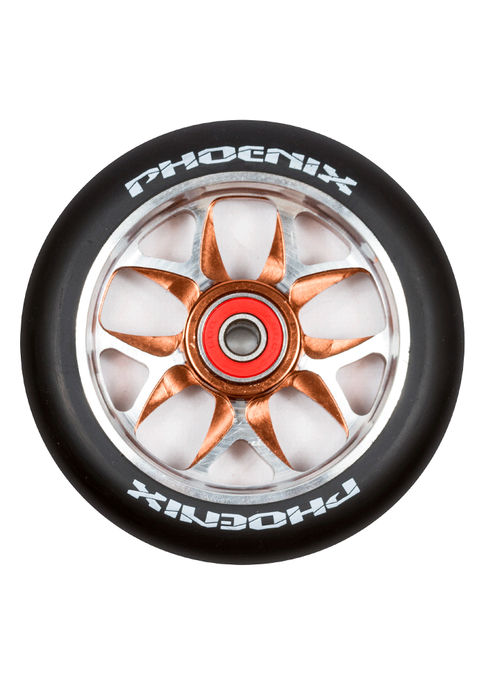 Phoenix F10 Alloy Core Wing Wheel 110mm - Pro Scooters USA   - 1