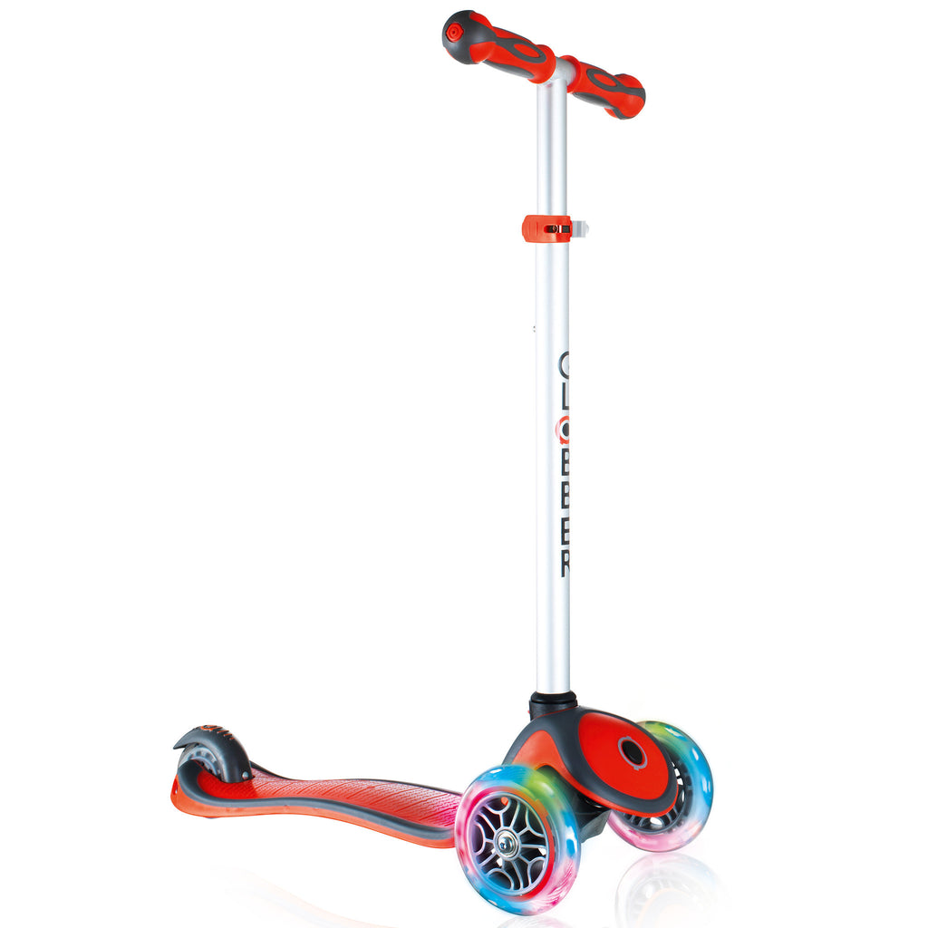 Globber 3 Wheel Adjustable Height Scooter w/ LED Light Up Wheels - Pro Scooters USA   - 4