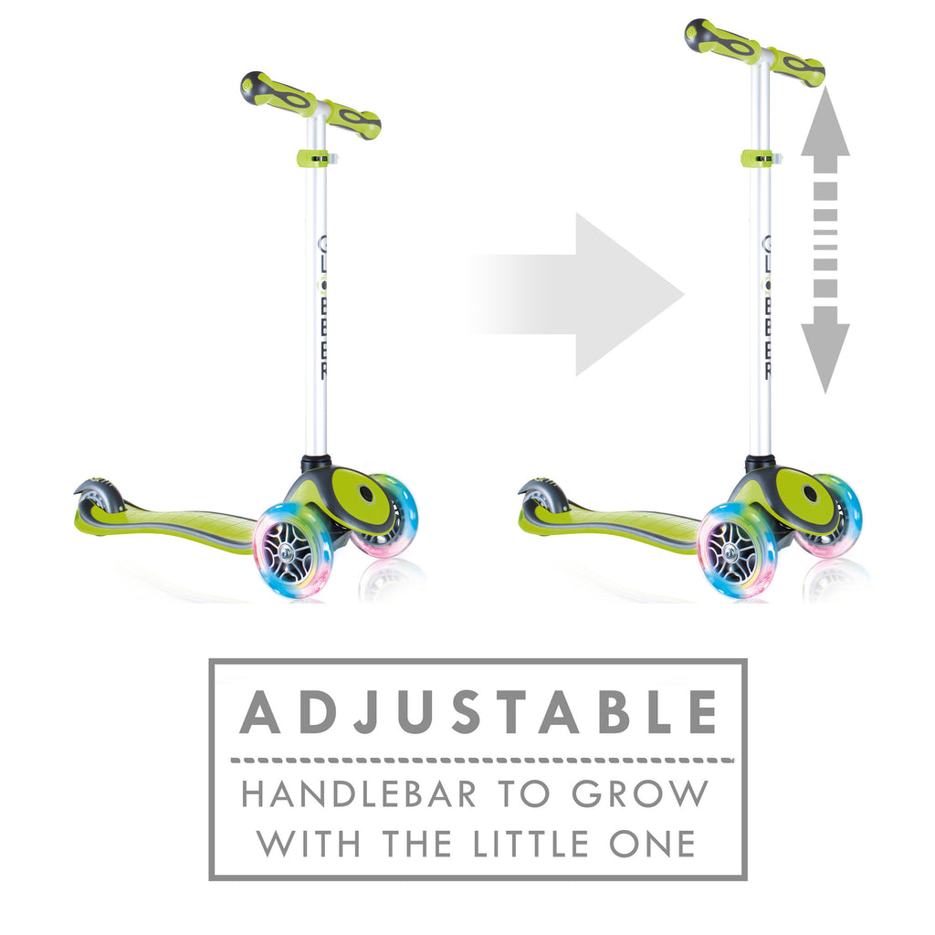 Globber 3 Wheel Adjustable Height Scooter w/ LED Light Up Wheels - Pro Scooters USA   - 19