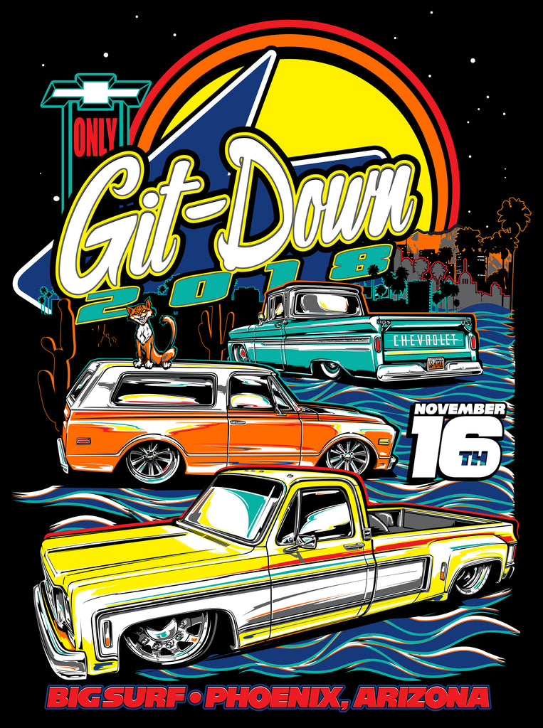 Git Down 2018 Pre Sale T Shirts are LIVE August 1st!!