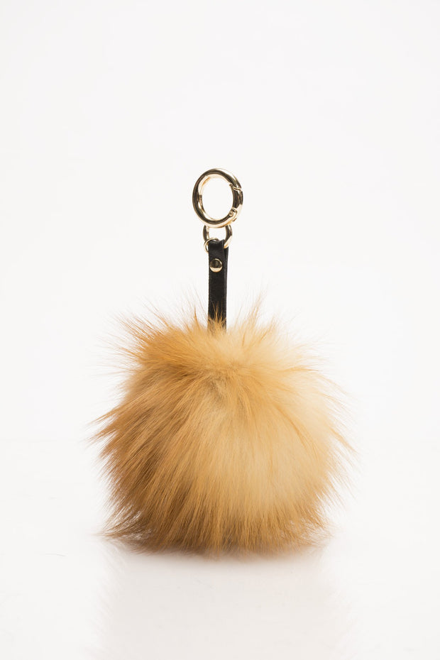 Natural Red Fox Key Chain