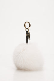 White Fox Key Chain