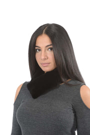 Sheared Headband - Black Mink