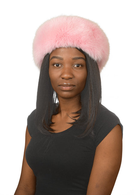 J.Ziglou Pink Fox Hat