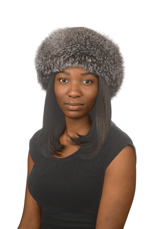J.Ziglou Silver Fox and Mink Hat