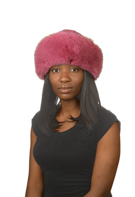 J.Ziglou Hot Pink Fox Hat