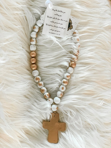 CREAMY CROSS / MINI BLESSING BEADS